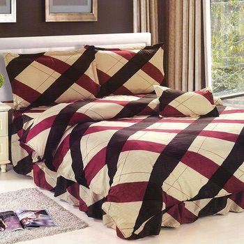 【Victoria】柔之鄉特大五件式床罩組-格調