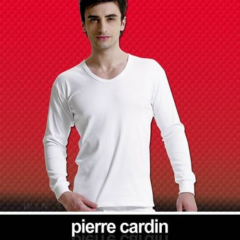 【Pierre Cardin 皮爾卡登】 排汗厚暖棉U領長袖衫