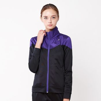 【FIVE UP】繽紛亮彩立領刷毛外套-女-紫