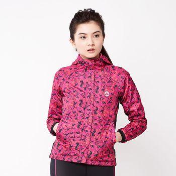 【美國 AIRWALK】時尚個性花版風衣外套-女 -中桃