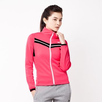 【美國 AIRWALK】簡約時尚修身 V型剪接高領外套-女 -果紅