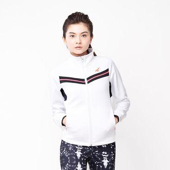 【美國 AIRWALK】簡約時尚修身 V型剪接高領外套-女 -白