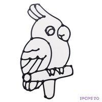 【BabyTiger虎兒寶】愛玩色 兒童無毒彩繪玻璃貼- 小張圖卡 - 鸚鵡 ipcpS2