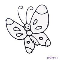 ~BabyTiger虎兒寶~愛玩色 兒童無毒彩繪玻璃貼~ 小張圖卡 ~ 蝴蝶 ipcpS1