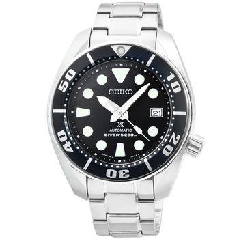 SEIKO精工PROSPEX SCUBA 機械鋼帶腕錶-黑 / SBDC031