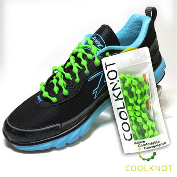 COOL KNOT 豆豆 彈性 免綁鞋帶(草原綠) CK15-05