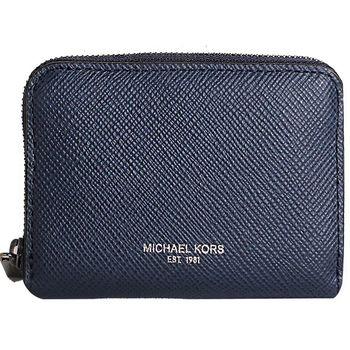 MICHAEL KORS -NICKEL 拉鍊零錢包 (藍)