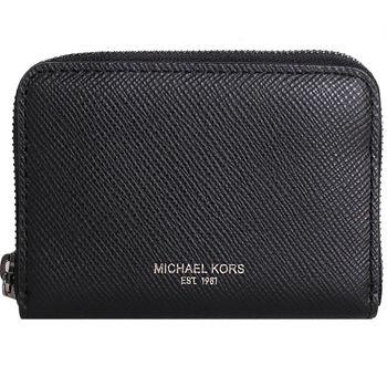 MICHAEL KORS -NICKEL 拉鍊零錢包 (黑)