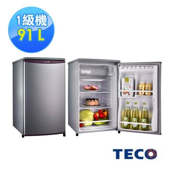 【TECO東元】91公升單門小鮮綠冰箱R1061(銀色/綠色)