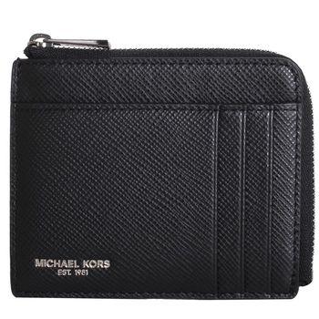 MICHAEL KORS -NICKEL 拉鍊卡夾零錢包 (黑)