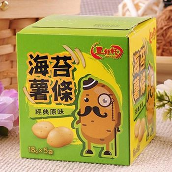 【豐郁軒】海苔薯條/阿根廷鮮烤魷魚9盒(薯條原味*3薯條辣味*3魷魚*3)