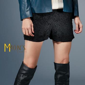 MONS法式蕾絲A line顯瘦短褲