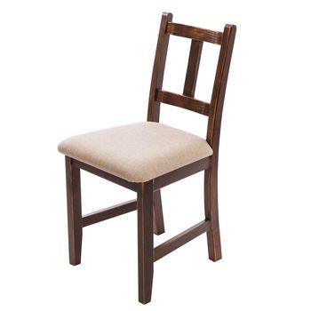 CiS自然行實木家具- Avigons南法原木椅(焦糖色)淺灰色椅墊