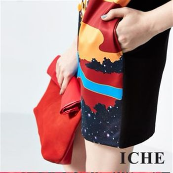 【ICHE 衣哲】個性印花造型洋裝