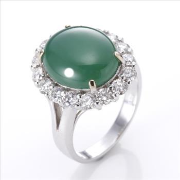 絕世精品 Dolly 珍藏極品老坑翠綠美鑽戒