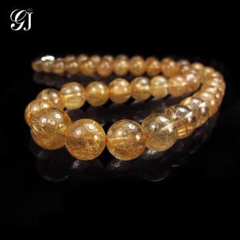 [晉佳珠寶] Gemdealler Jewellery 稀有珍藏 金黃板絲  天然鈦晶項鍊 78g