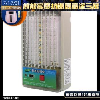【太星電工】夜神200-18LED緊急照明燈-暖白光(個檢)2入  IG2001*2