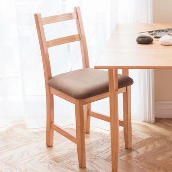 CiS自然行實木家具- Reykjavik北歐木作椅(溫暖柚木色)深咖啡椅墊