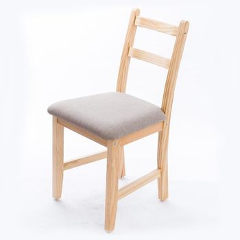 CiS自然行實木家具- Reykjavik北歐木作椅(扁柏自然色)淺灰色椅墊