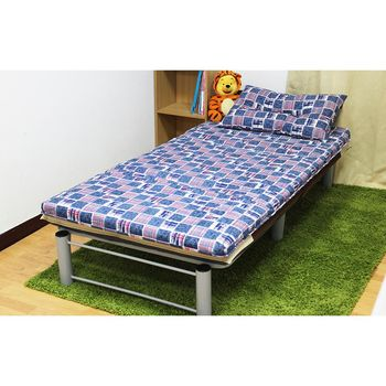 【KOTAS】冬夏透氣床墊-單人 一入(送 記憶枕) 《牛仔藍格》