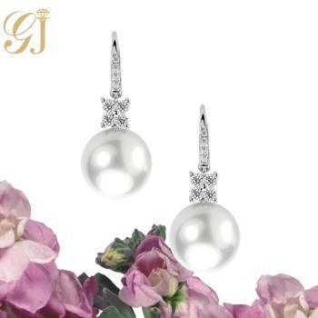 [晉佳珠寶] Gemdealler Jewellery 女人專屬 天然南洋珍珠鑽石耳環 11.3mm
