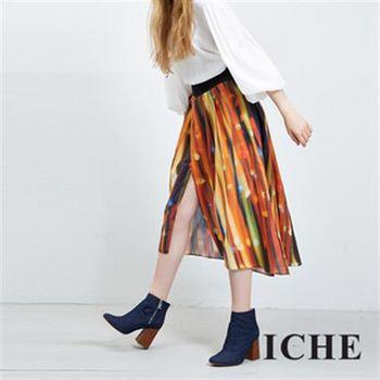 【ICHE 衣哲】100%好感純棉印花開衩長裙