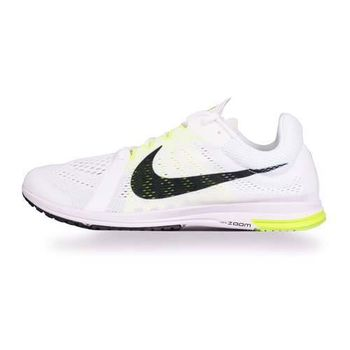 【NIKE】ZOOM STREAK LT 3 男路跑訓練鞋- 慢跑 路跑 健身 白螢光綠