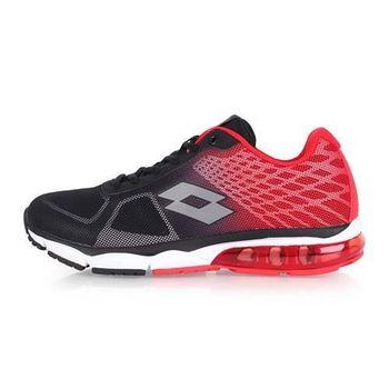 【LOTTO】男氣墊跑鞋 -路跑 慢跑 運動鞋 黑紅
