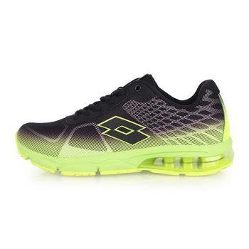 【LOTTO】男氣墊跑鞋 -路跑 慢跑 運動鞋 黑螢光綠
