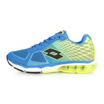 【LOTTO】男氣墊跑鞋 -路跑 慢跑 運動鞋 寶藍螢光綠