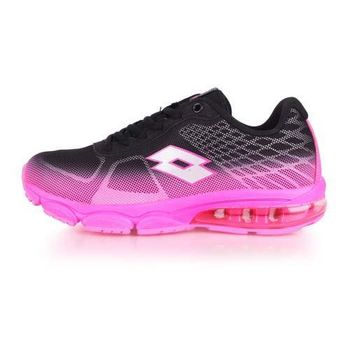 【LOTTO】女氣墊跑鞋 -路跑 慢跑 運動鞋 黑粉