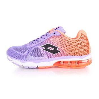 【LOTTO】女氣墊跑鞋 -路跑 慢跑 運動鞋 紫橘