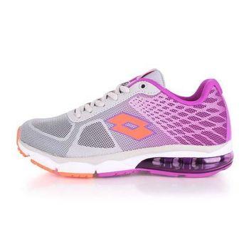 【LOTTO】女氣墊跑鞋 -路跑 慢跑 運動鞋 淺灰紫