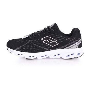 【LOTTO】AIR FLOW II 男慢跑鞋-路跑 黑白