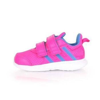 【ADIDAS】HYPERFAST 2.0 CF I 女兒童休閒運動鞋- 愛迪達 桃紅藍