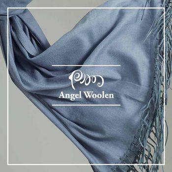 【ANGEL WOOLEN】引領風尚Pashmina鑽石紋印度手工流蘇披肩 圍巾(共兩色)