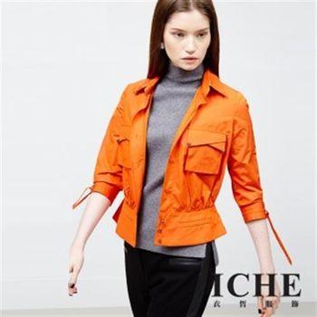 【ICHE 衣哲】雙口袋腰身造型外套