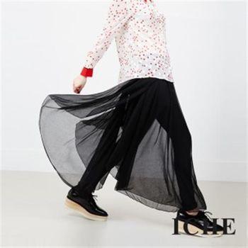 【ICHE 衣哲】假兩件拼接造型褲裙