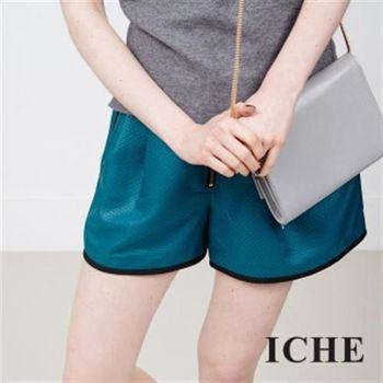 【ICHE 衣哲】立體紋滾邊短褲