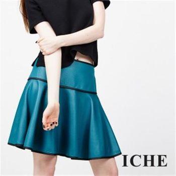 【ICHE 衣哲】立體紋滾邊圓裙