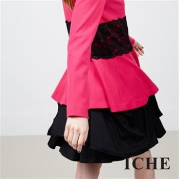 【ICHE 衣哲】不規則疊層皺褶造型裙