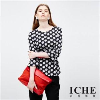 【ICHE 衣哲】骰子印花造型上衣(2015發燒單品)