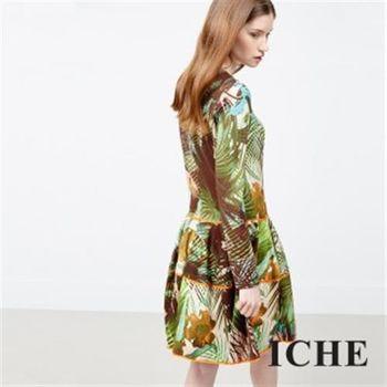 【ICHE 衣哲】叢林花版洋裝