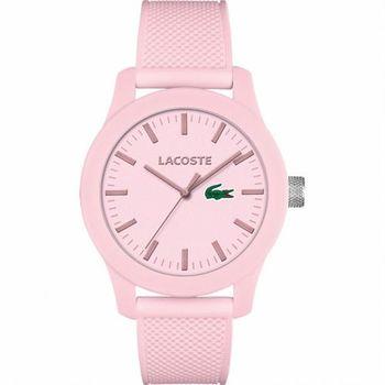 Lacoste 12.12系列撞色活力時尚腕錶-粉紅/43mm L2010773