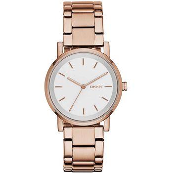 DKNY Soho 摩登城市大三針腕錶-玫瑰金/34mm NY2344