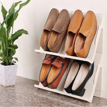 【西華】多功能可拼接層疊立體儲物架(12件組) 收納架/鞋櫃/收納櫃/