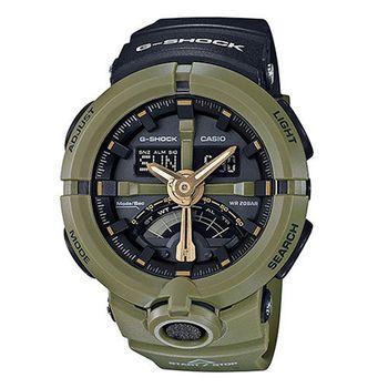 【CASIO 卡西歐】G-SHOCK 公路車齒輪運動時尚腕錶(48.9mm/ GA-500P-3A)