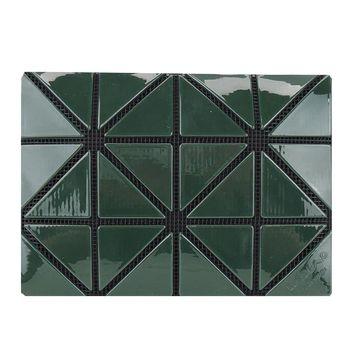 ISSEY MIYAKE 三宅一生 BAOBAO幾何方格3x4名片夾(亮面綠)