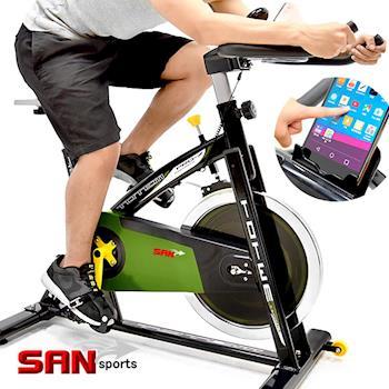 【SAN SPORTS】戰車18KG飛輪健身車(4倍強度)