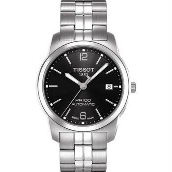 TISSOT PR100 都會年代機械腕錶-黑/38mm T0494071105700